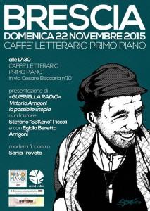 22 novembre locandina Guerrilla radio