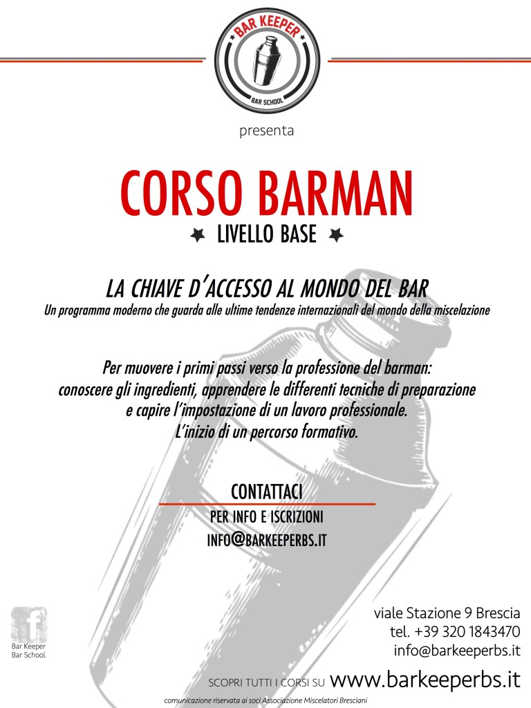 Bar Keeper - locandina BARMAN BASE